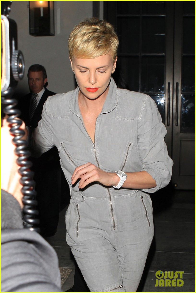 charlize theron rocks jumpsuit for dinner with jackson 082860605