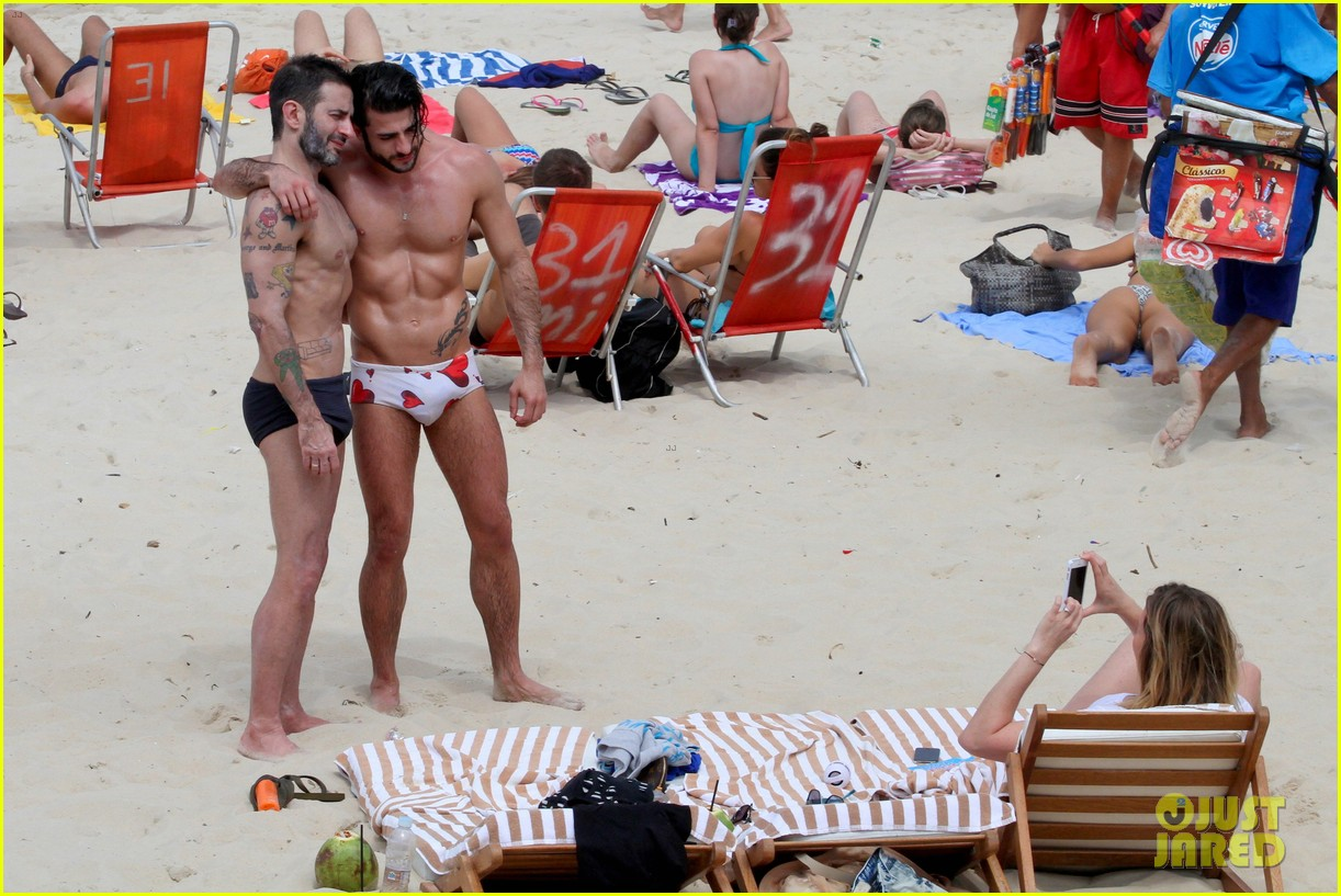marc jacobs harry louis shirtless speedo pda in rio 052845397