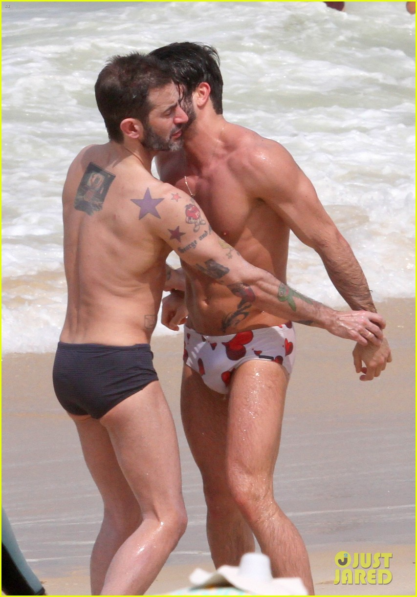 marc jacobs harry louis shirtless speedo pda in rio 122845404