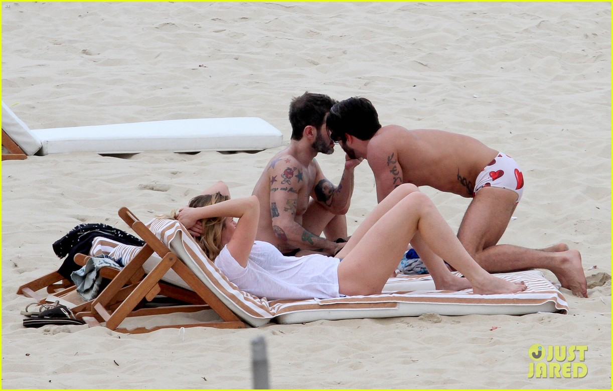 marc jacobs harry louis shirtless speedo pda in rio 172845409