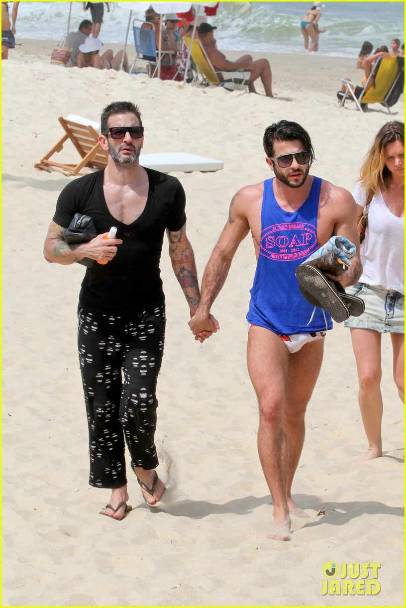 marc jacobs harry louis shirtless speedo pda in rio 182845410