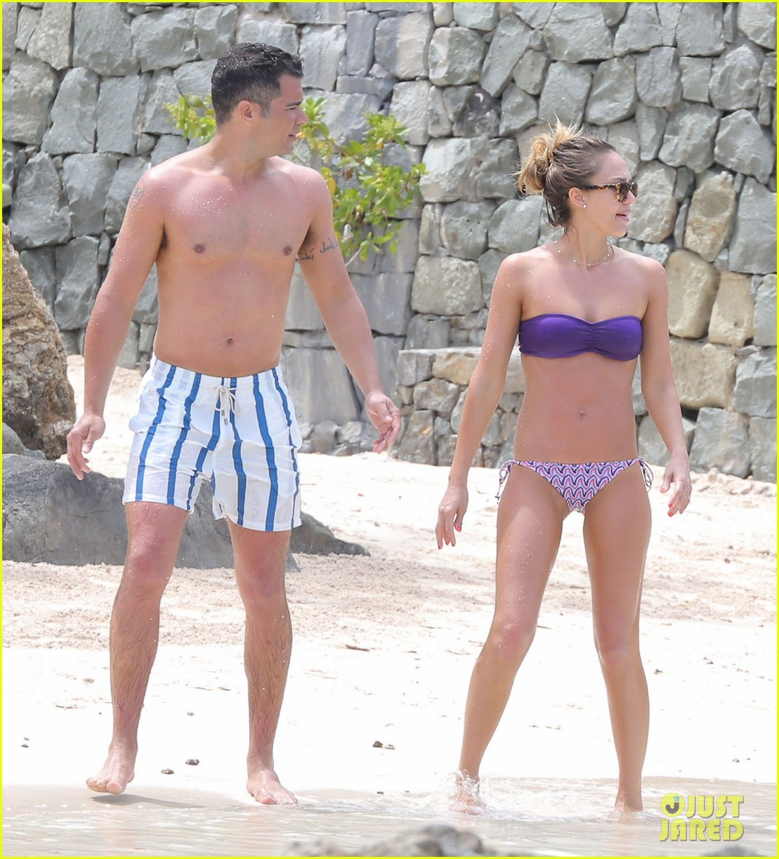 jessica alba purple bikini pretty 072844916