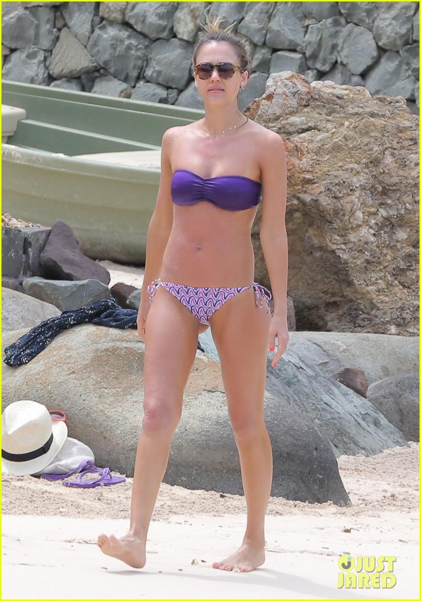 jessica alba purple bikini pretty 102844919