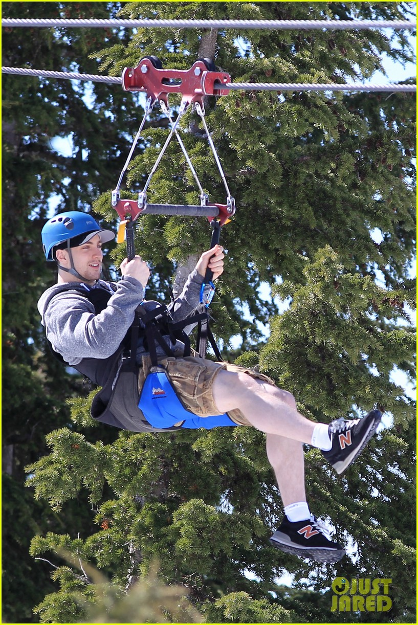 aaron taylor johnson wife sam easter ziplining 082841500