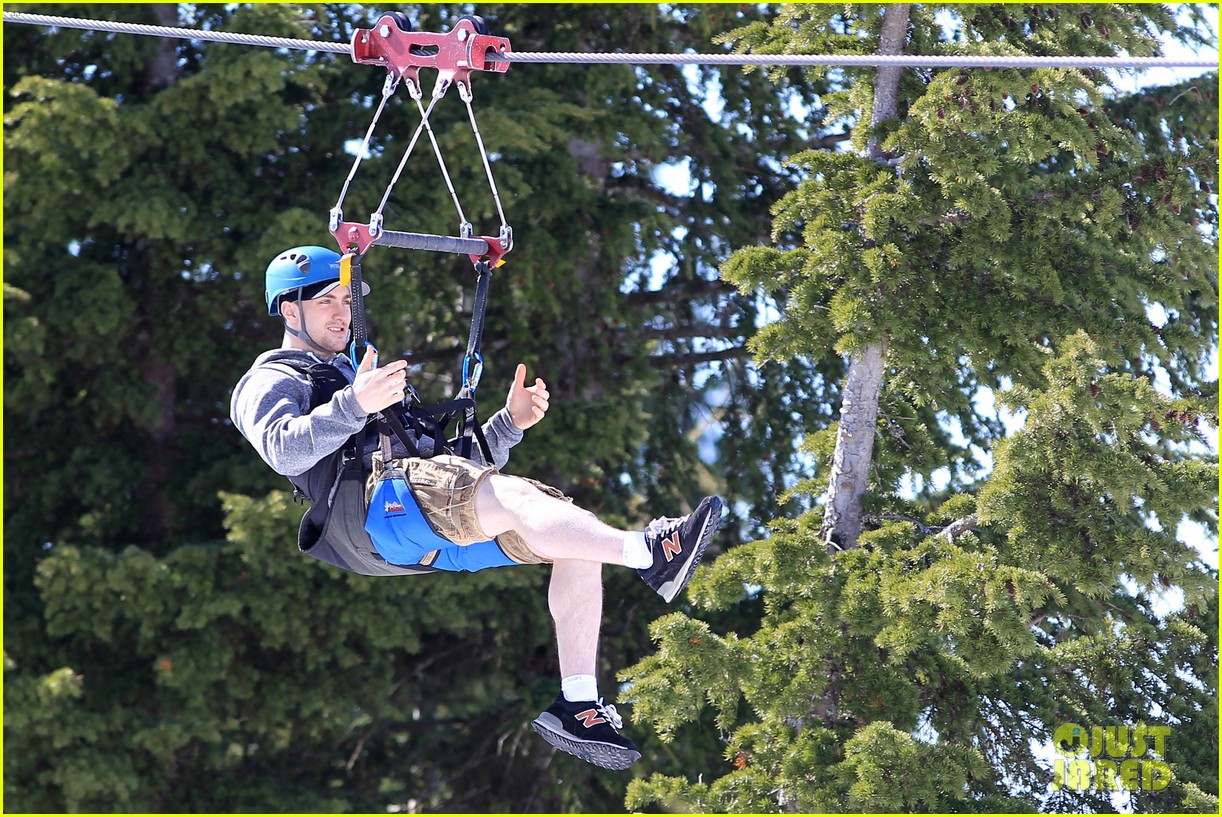 aaron taylor johnson wife sam easter ziplining 172841509
