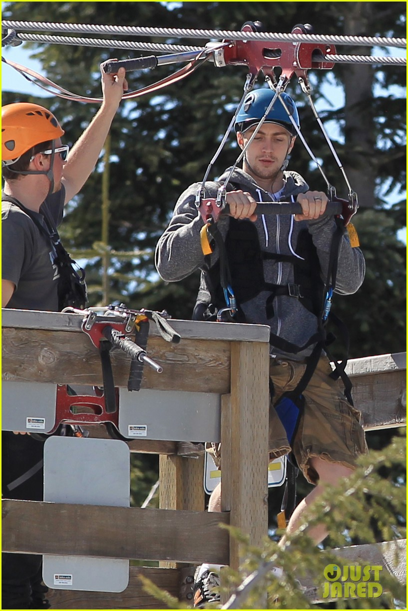 aaron taylor johnson wife sam easter ziplining 282841520