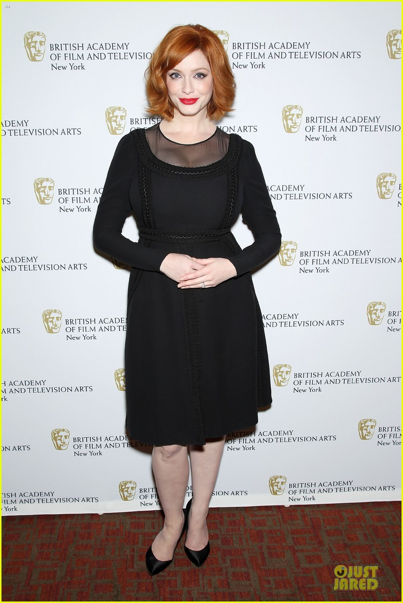 january jones christina hendricks bafta mad men panel 28