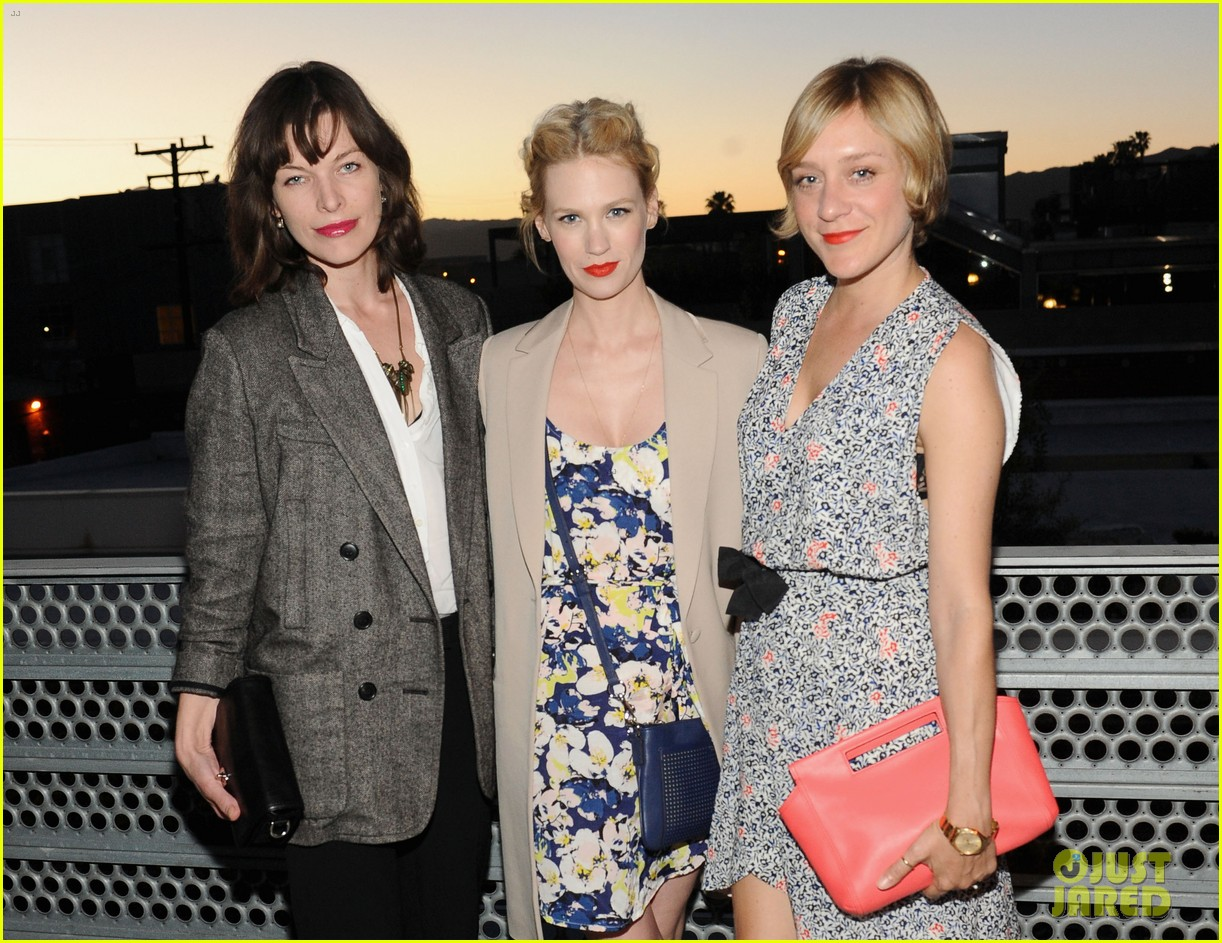 january jones milla jovovich coach evening of cocktails 062847357