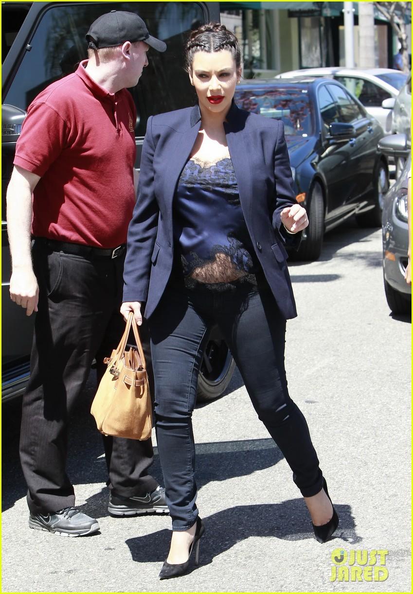 kim kardashian bares pregnant tummy in belly shirt 192852861