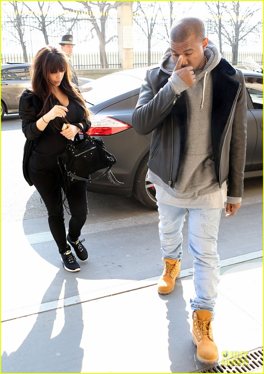 kanye west kim kardashian pregnant paris departure after easter weekend 072842463