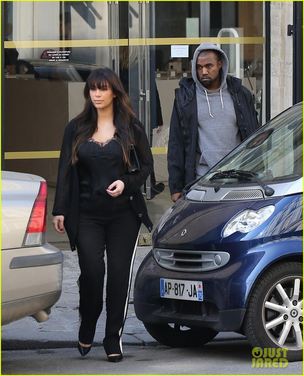 kim kardashian pregnant paris getaway with kanye west 052841965