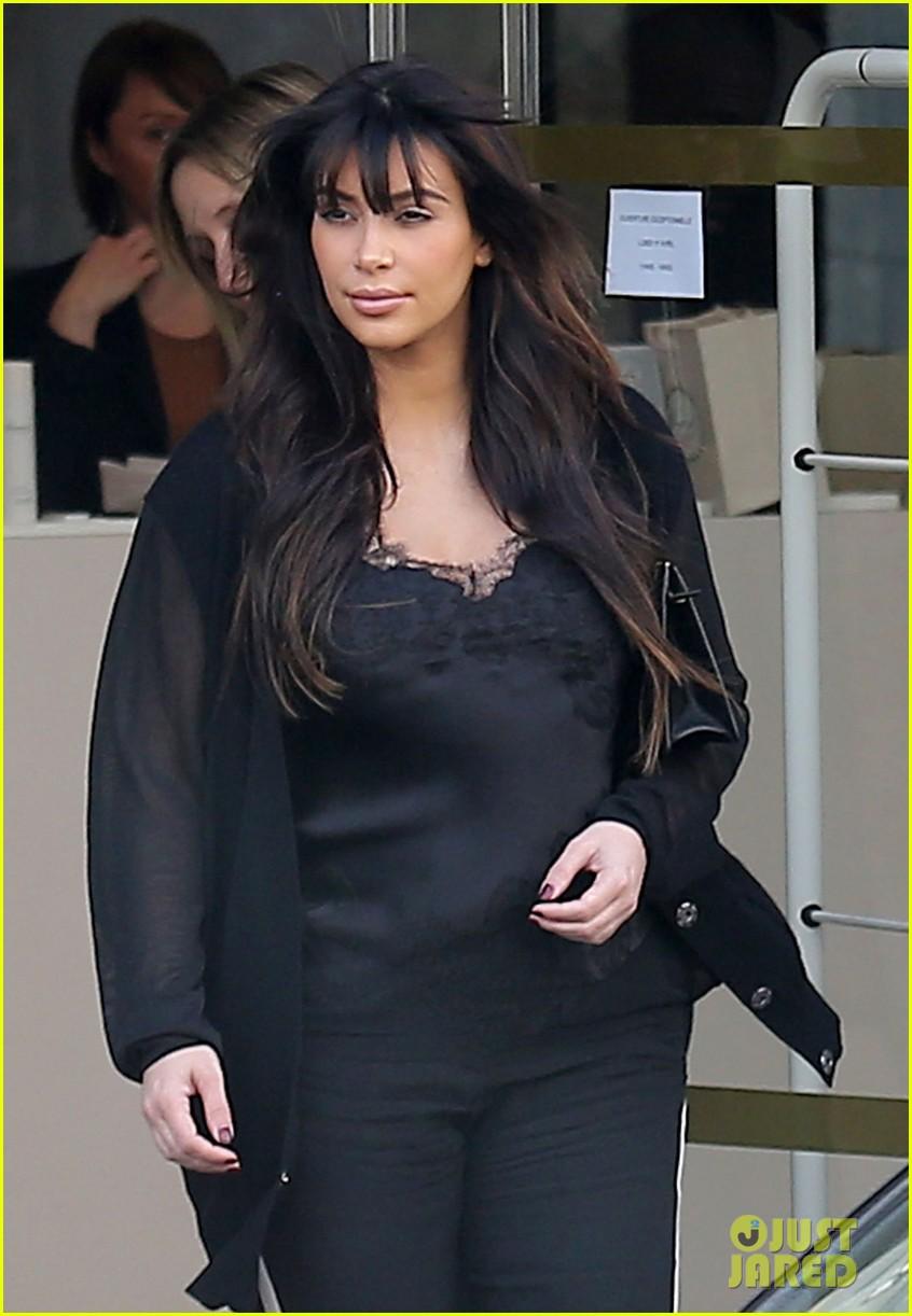kim kardashian pregnant paris getaway with kanye west 182841978