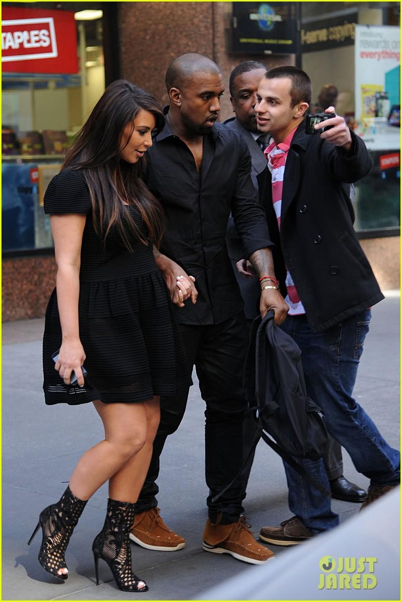 kim kardashian kanye west rushed by fan wanting photo 052857435