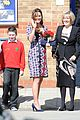kate middleton pregnant baby bump at willows school 01