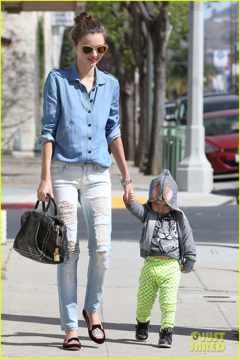 miranda kerr flynn romp around at kids gym 122845574