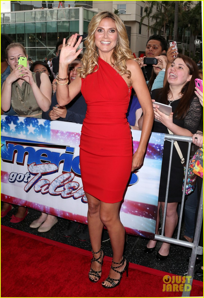 heidi klum mel b americas got talent in los angeles 062857498