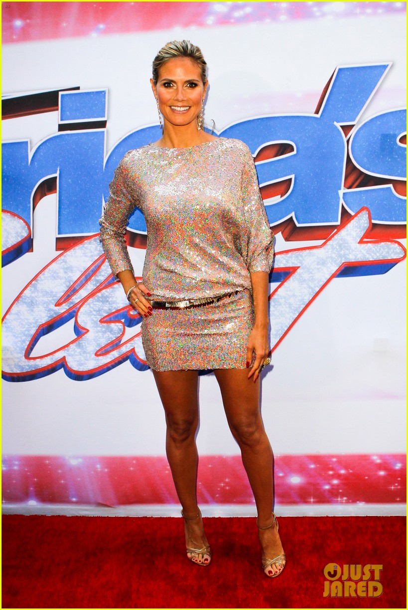 heidi klum mel b americas got talent in new york 102845458