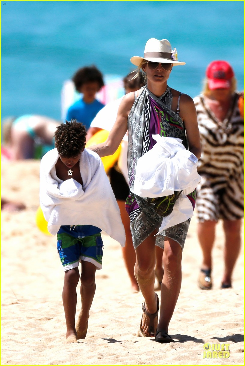 heidi klum family back in l a after hawaii drowning save 132842213