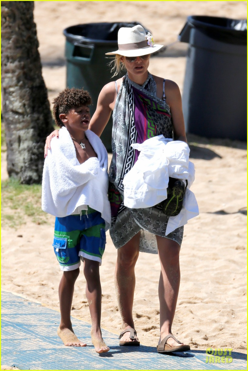 heidi klum family back in l a after hawaii drowning save 182842218
