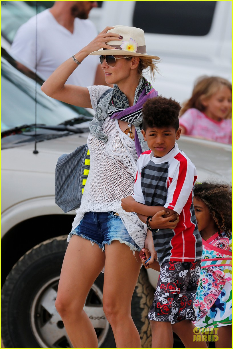 heidi klum family back in l a after hawaii drowning save 252842225