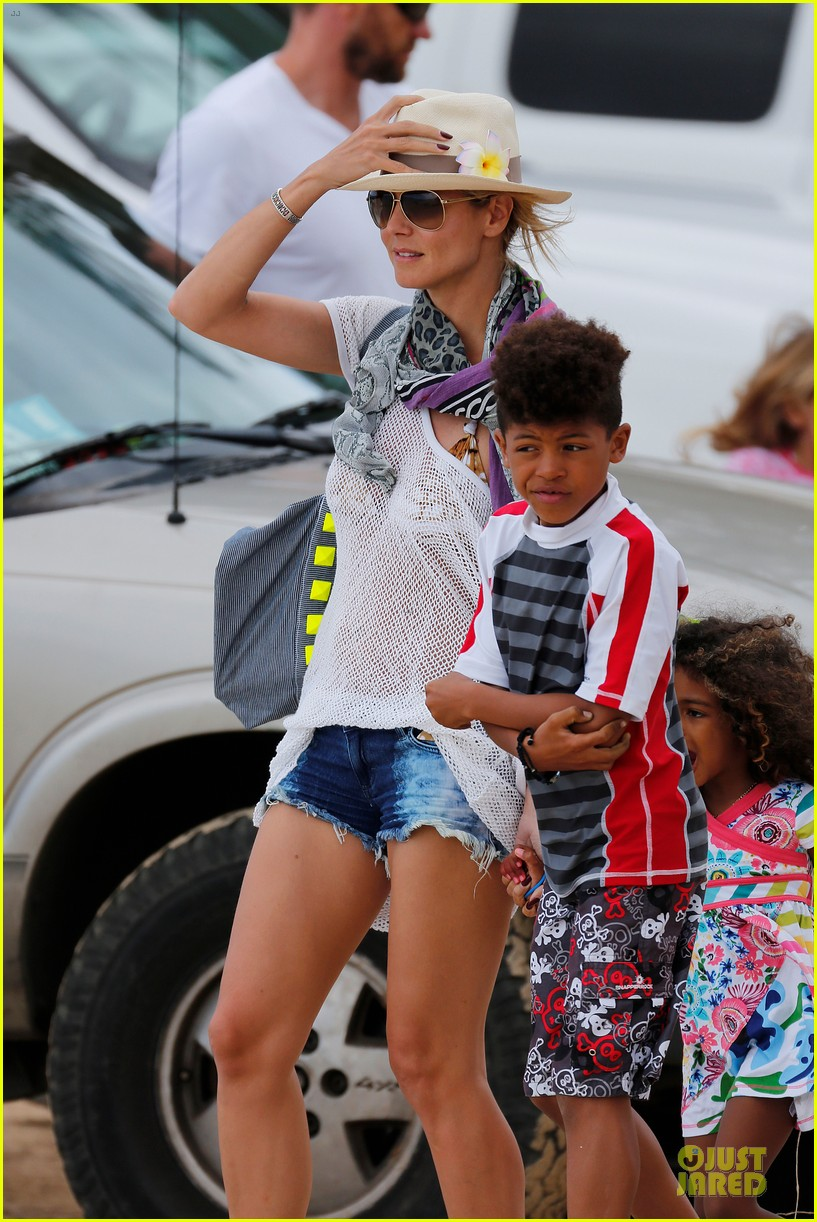 heidi klum family back in l a after hawaii drowning save 342842234