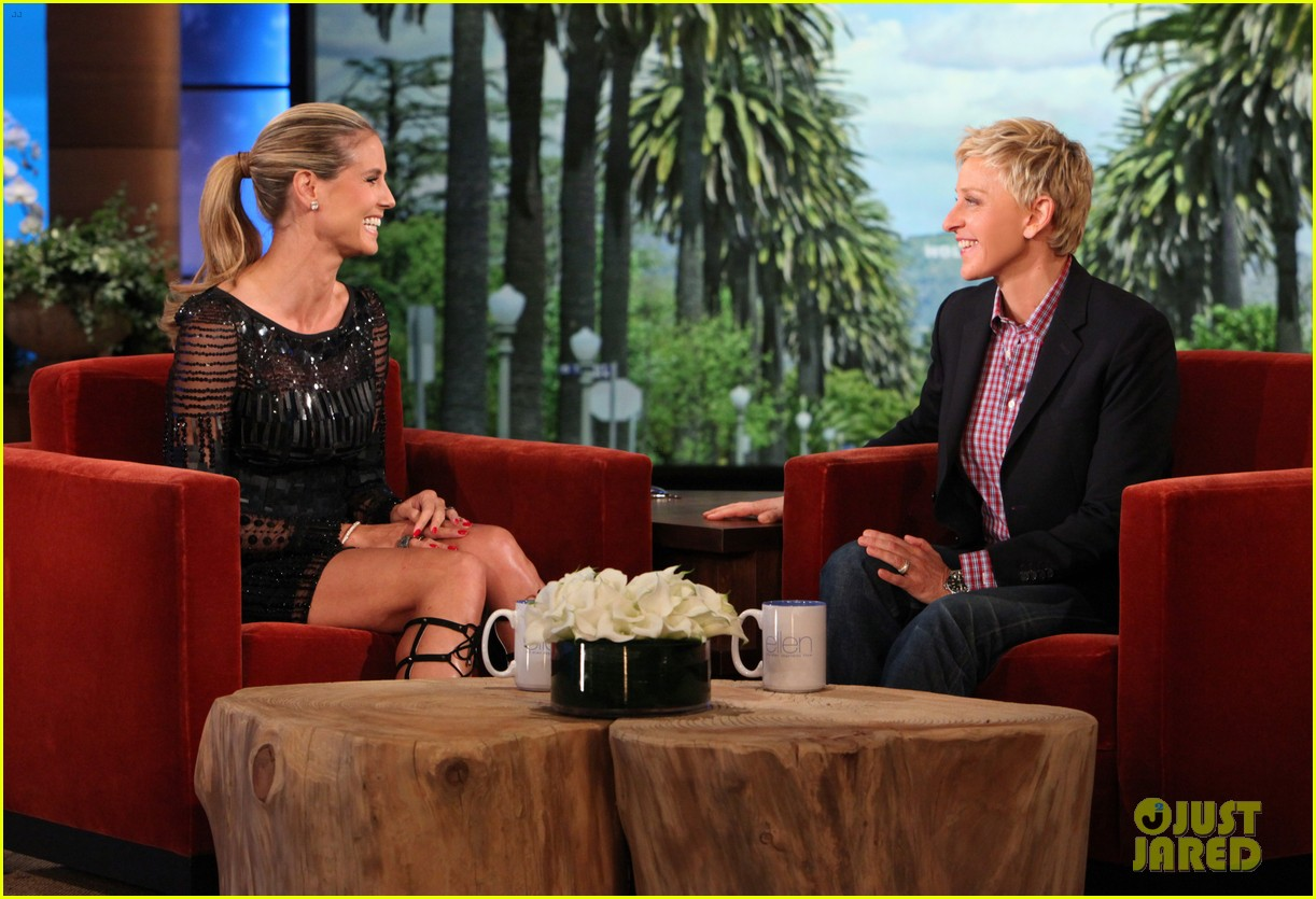 heidi klum family weekend ellen appearance 302850638