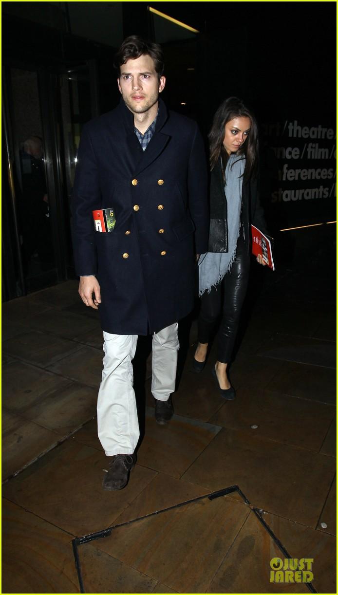 milia kunis ashton kutcher holding hands in london 052848466