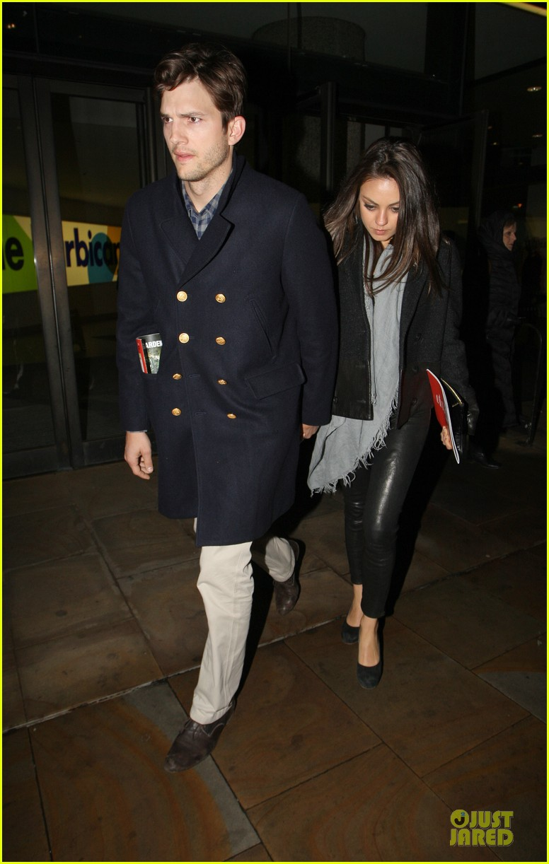 milia kunis ashton kutcher holding hands in london 11