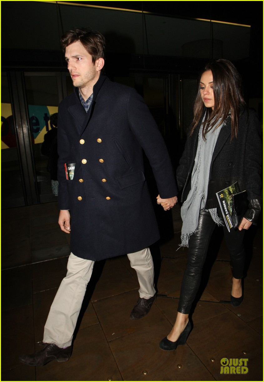 milia kunis ashton kutcher holding hands in london 132848474