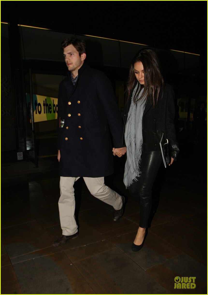 milia kunis ashton kutcher holding hands in london 152848476
