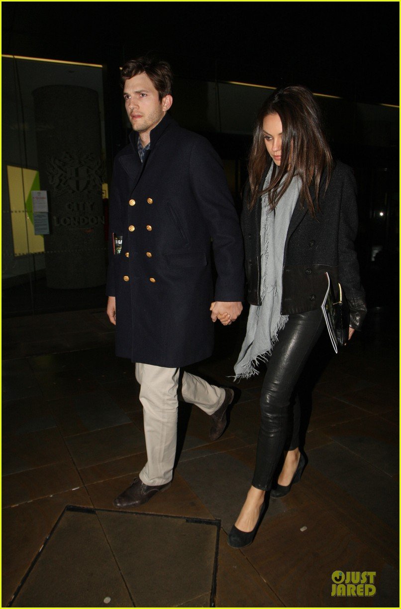 milia kunis ashton kutcher holding hands in london 172848478