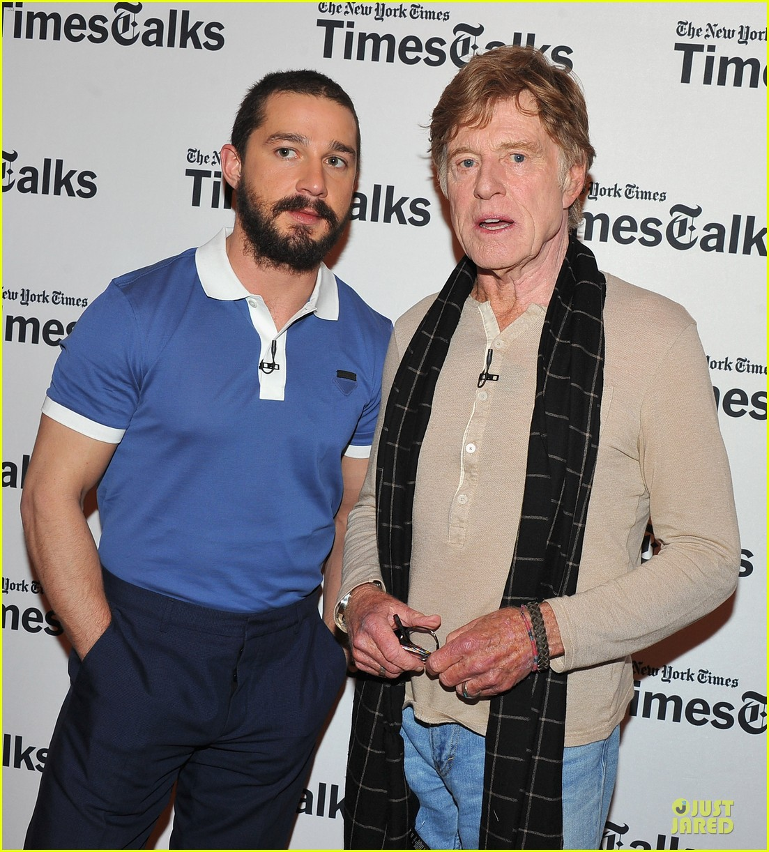 shia labeouf robert redford held my hand 062842338