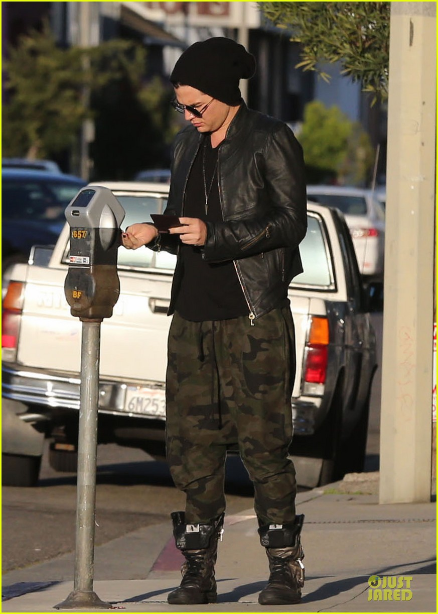 adam lambert camouflaged pants meeting 072846552