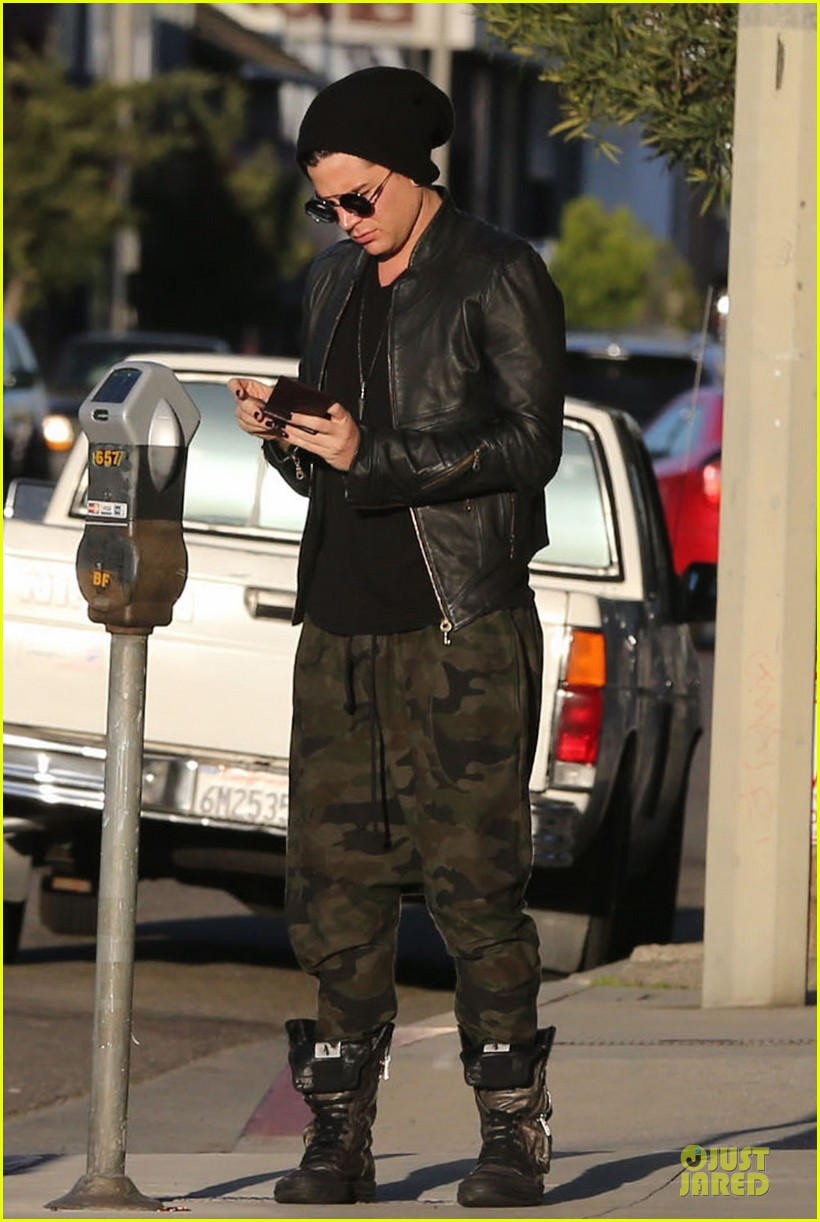 adam lambert camouflaged pants meeting 09