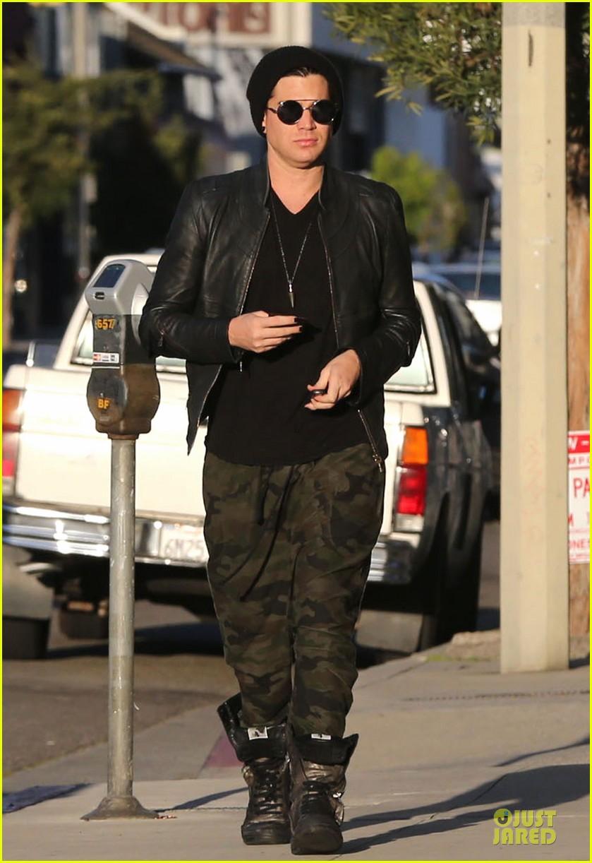 adam lambert camouflaged pants meeting 132846558