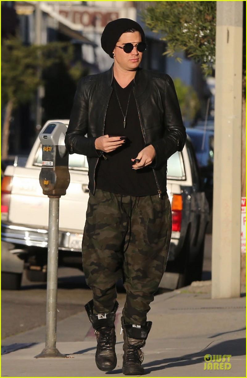 adam lambert camouflaged pants meeting 142846559