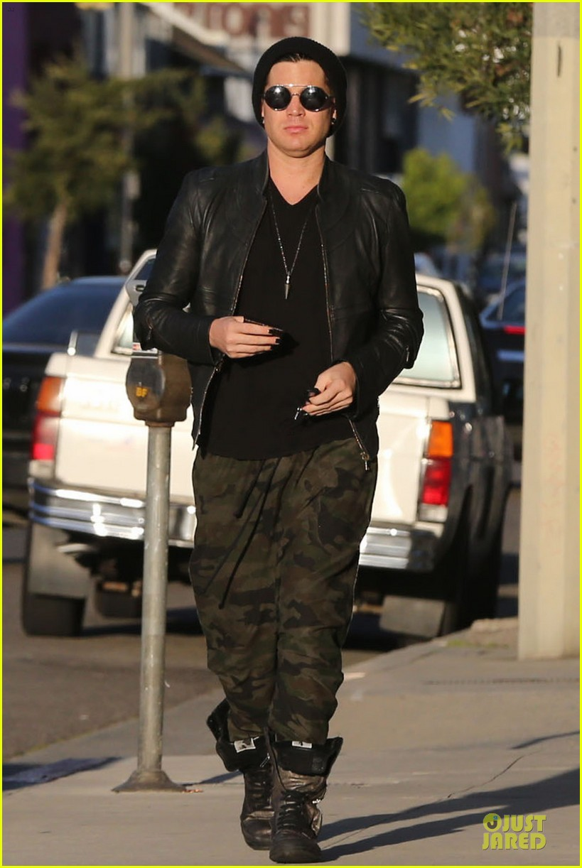 adam lambert camouflaged pants meeting 152846560
