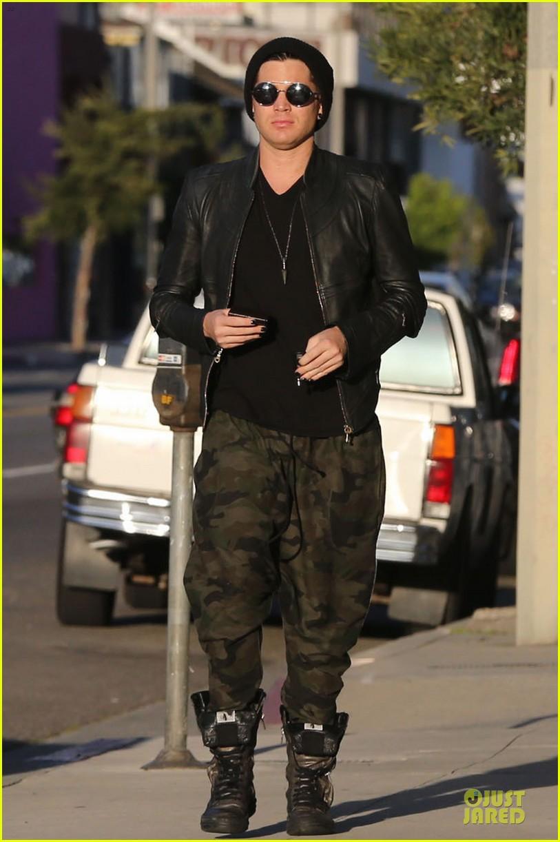adam lambert camouflaged pants meeting 162846561