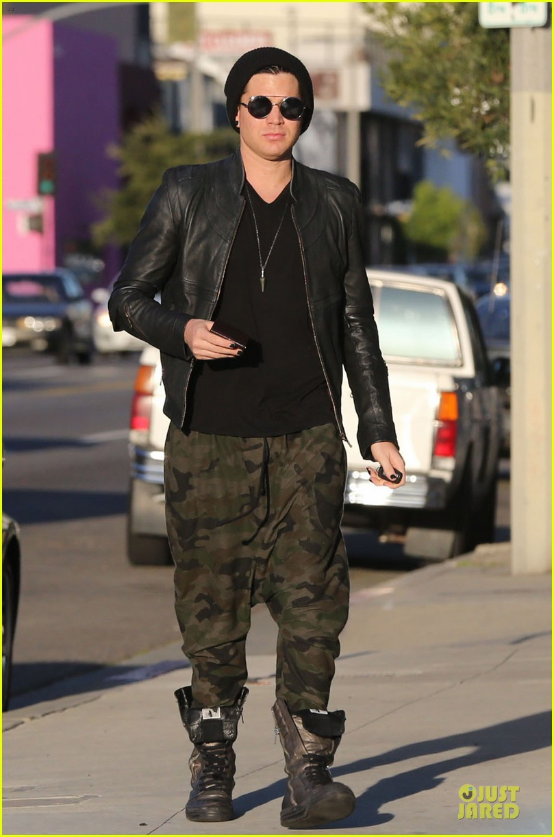 adam lambert camouflaged pants meeting 202846565