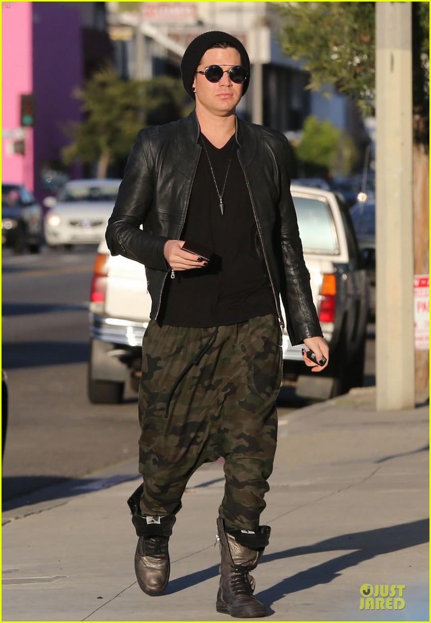 adam lambert camouflaged pants meeting 212846566