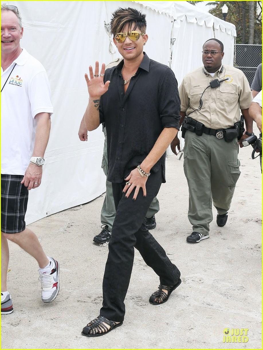 adam lambert miami beach gay pride parade performer 032848826