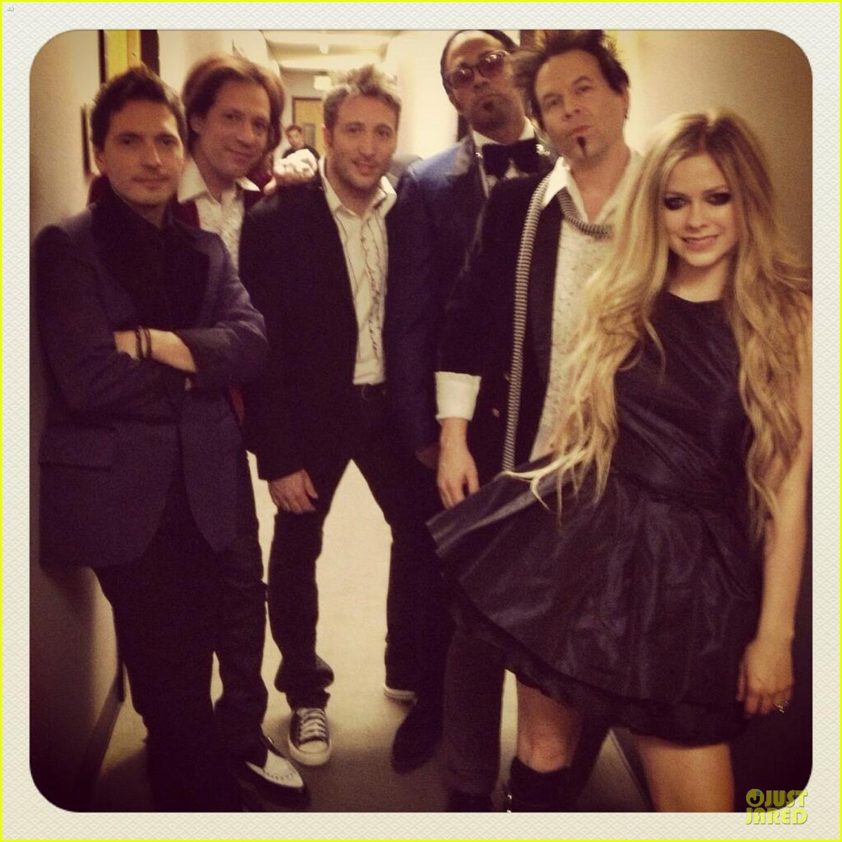 avril lavigne robert downey jr guests on leno 032858922