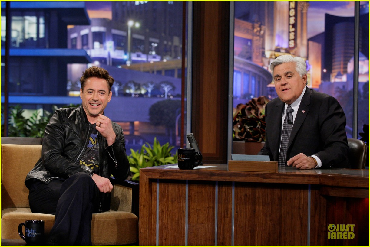 avril lavigne robert downey jr guests on leno 052858924