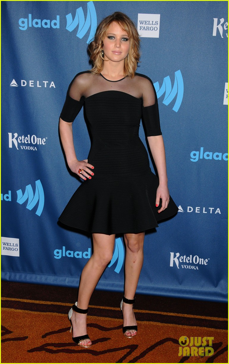 jennifer lawrence new short hair at glaad media awards 2013 122854453
