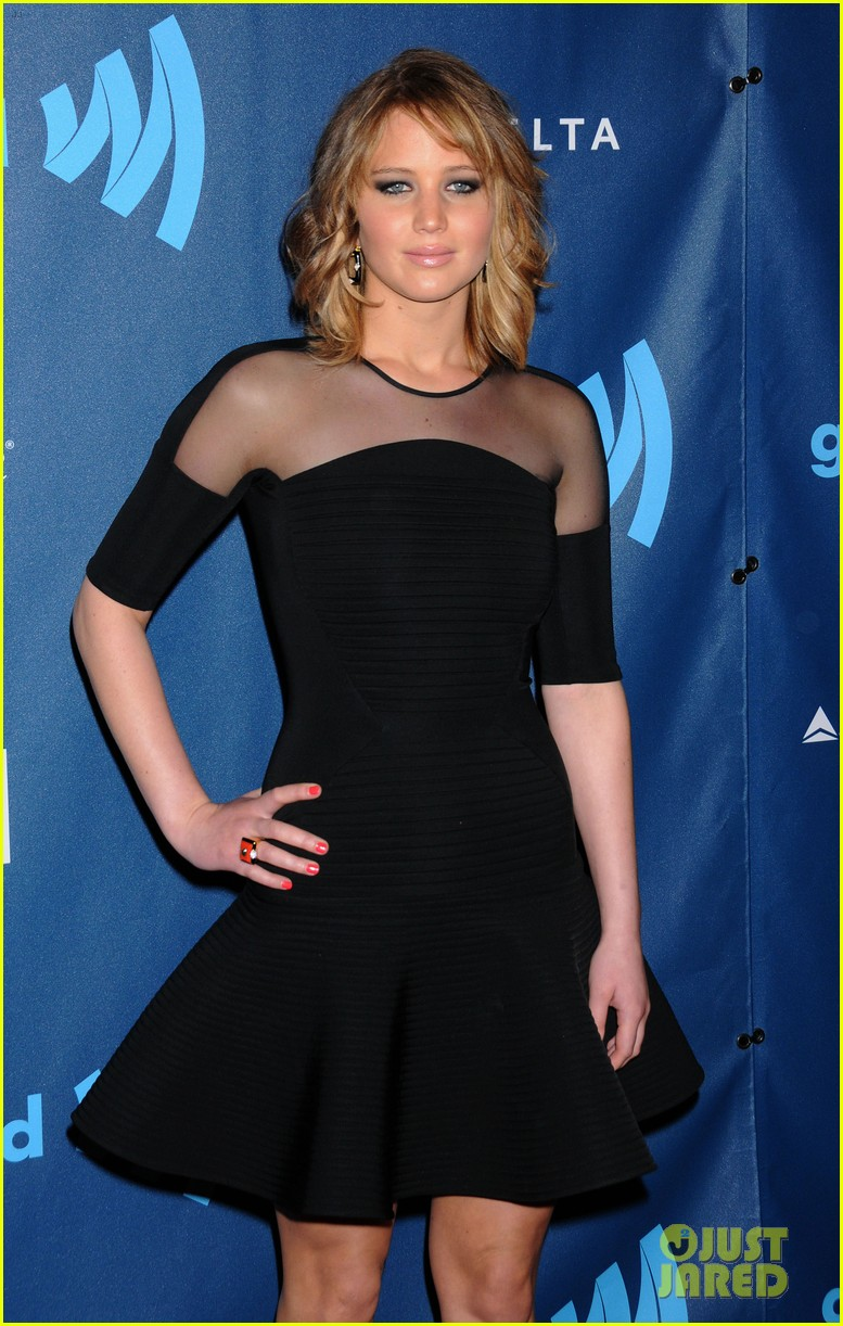 jennifer lawrence new short hair at glaad media awards 2013 15