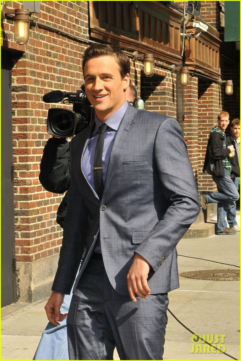 ryan lochte late show with david letterman visit 022856340