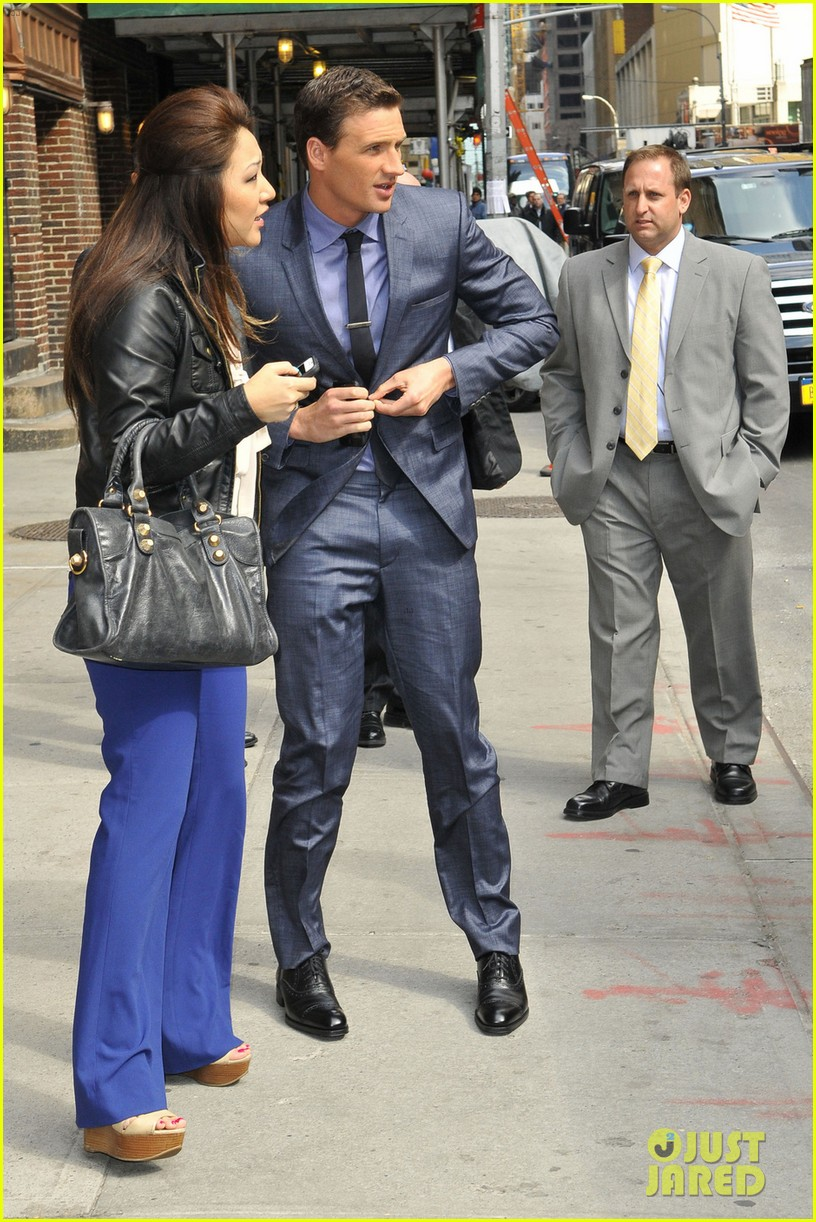 ryan lochte late show with david letterman visit 042856342