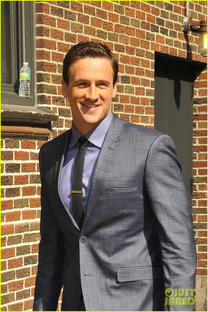 ryan lochte late show with david letterman visit 062856344