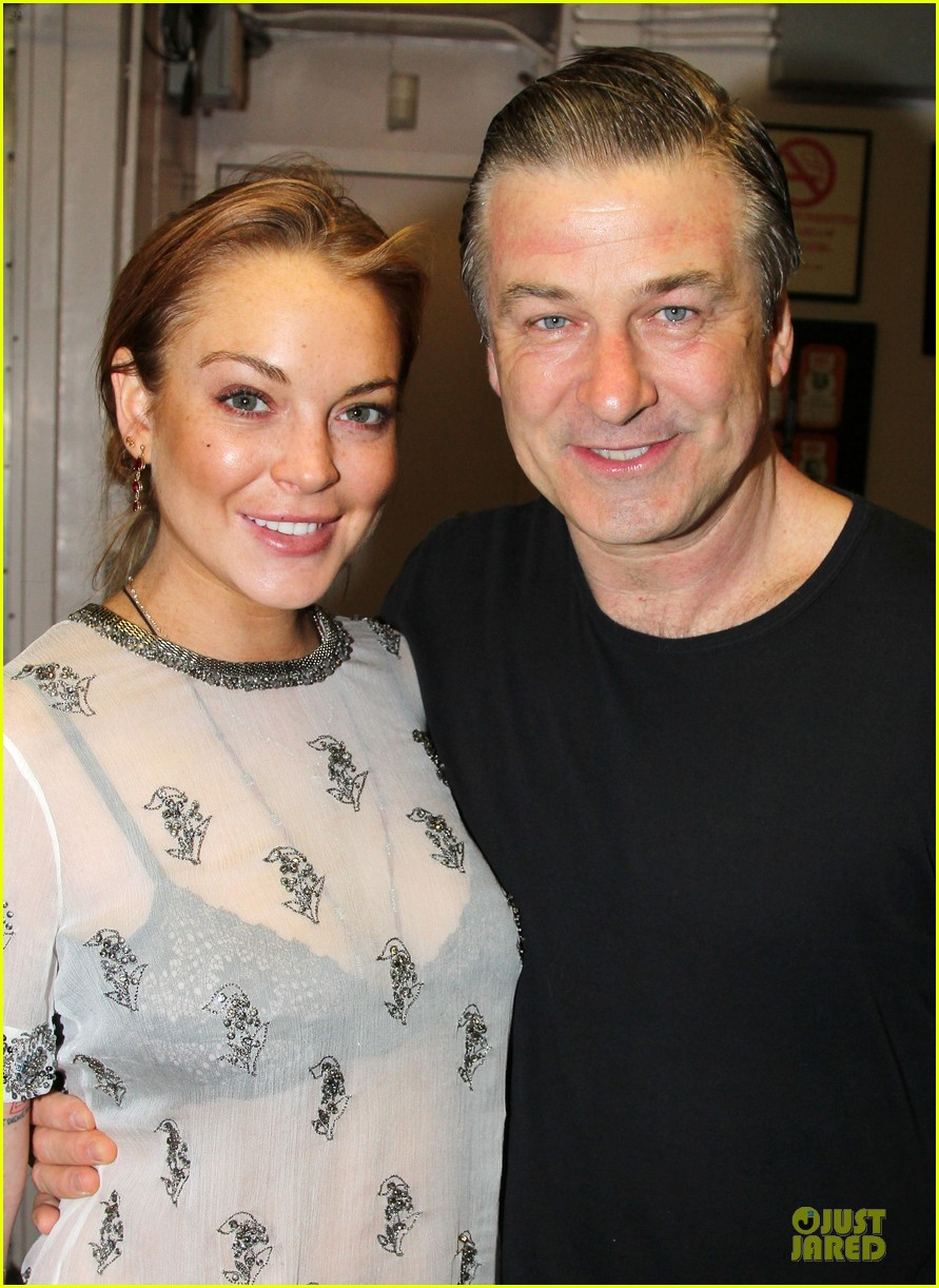 lindsay lohan orphans broadway show with alec baldwin 022857017