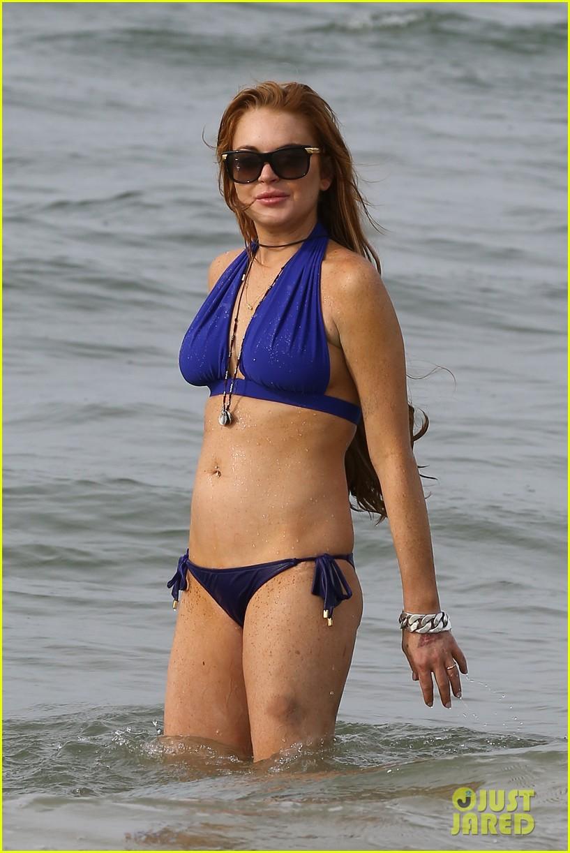 lindsay lohan bikini beach babe in brazil 172842659